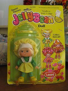 Vintage Lucy Lemon Jellybean Doll Lanard Toys Limited 1981 New On Card Dolls From The 80s, Vintage Strawberry Shortcake Dolls, Kids Zone, 80s Kids, Retro Toys, Jelly Beans, My Ebay, Childhood Memories, Baby Dolls