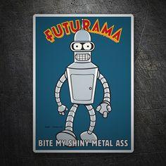 Pegatinas: Bender Futurama #coche #pegatina #sticker