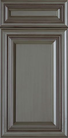 """Tuscan Collection Wood Cabinet Door at Elias Woodwork - """"Atlantic"""" miter style door with raised panel - Maple MDF with Egyptian Sage lacquer and Feathered Mocha Glaze"""