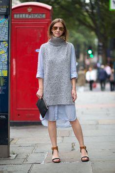 gray sleeveless knit