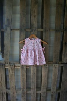 Vintage Pink Floral Pinafore Dress by Little Lindsey by vintapod