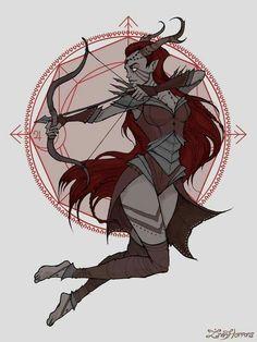Sagittarius - Witchy Zodiac by Iren Horror