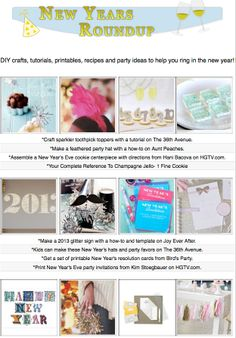 16 New Year's Eve themed craft tutorials, printables, how-tos and diy activities for kids and adults!