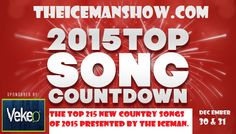 Here Are Number 215 to 41 Top New Country songs of 2015, Stay Tuned for the Top 40 Today! – TheIcemanShow.com