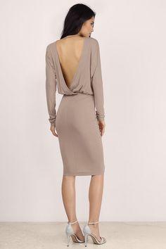 Bella Dolman Sleeve Midi Dress at Tobi.com  | Must have Midi dresses at www.tobi.com | #SHOPTobi | #MidiMadness