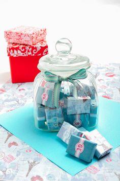 Matchbox advent calendar in a jar