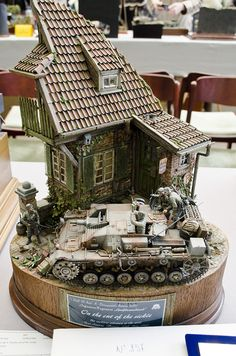 WWII Military diorama - you can pick up Diorama Accessories and Military Miniatures at Model Hobbies, Rc Hobbies, Cheap Hobbies, Model Maker, Model Tanks, Military Figures, Military Modelling, Panzer, Model Building