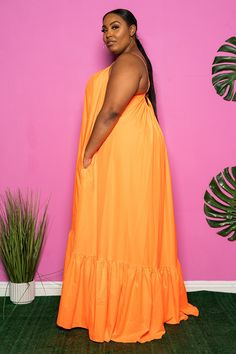 Orange Dress Outfits, Luau Outfits, Plus Size Fashion Tips, Plus Size Maxi Dresses, Summer Dresses, Royal Blue Dresses, African Dress, Classy Outfits, Neon