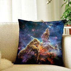 Galaxy Pillow Case Throw Pillow Cover Space Outdoor Pillowcase 18x18 Blue Decorative Cushion Pillow Cover