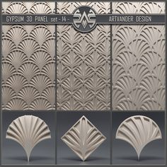 models: Other decorative objects - Gypsum panel Brick Tiles, Wall Tiles, House Ceiling Design, 3d Wall Panels, Metal Ceiling, Gypsum, Decorative Objects, Wall Decor, Interior