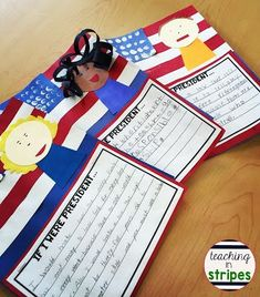 If I Were President craftivity and writing- adorable launch for an elections unit or for Presidents' Day!