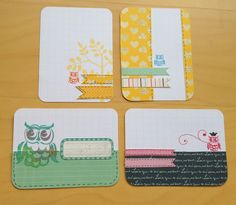 Owl project life cards  And just beautiful pl cars to recreate and not just with owls but other animal and other diistamps or stencils