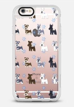 Schnauzers - CLEAR iPhone 6s case by Lili Chin | Casetify