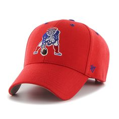 new concept 9eac3 0268a New England Patriots Audible MVP Torch Red 47 Brand Adjustable Hat. Red  LogoNfl ...