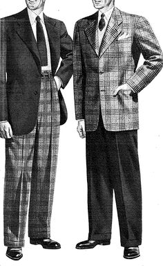 More 1946 menswear. Yeah, i cut their heads off. Whatever, we do it to women in ads all the time.