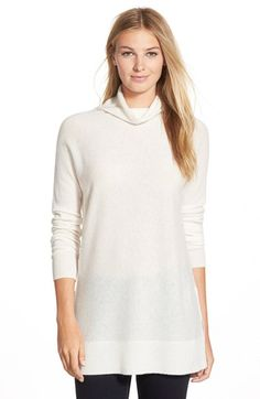 Halogen® Cashmere Funnel Neck Tunic (Regular & Petite) available at #Nordstrom