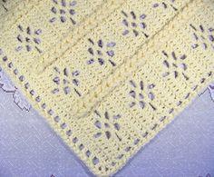 PDF padrão Crocheted assento de carro Tamanho do bebê afegão, EZ Trançado Lace bebê afegão Blanket Pattern