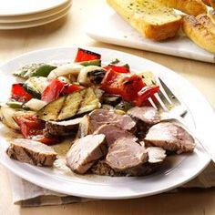 Marinated Pork Mixed Grill Recipe -My whole family gets so happy when they see me prepping this simple meal. When we have leftovers, it's sandwich heaven. —Maria Baral, Bozrah, Connecticut