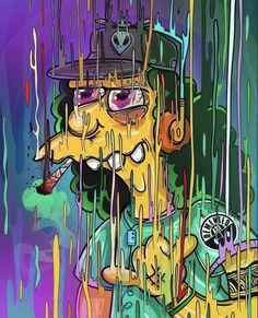 Otto Mann – Graffiti World Trippy Wallpaper, Graffiti Wallpaper, Cartoon Wallpaper, Simpsons Drawings, Simpsons Art, Trippy Photos, Acid Art, Marijuana Art, Stoner Art