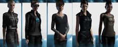 """Melinda submitted: """" They are the characters from a game called EVE online. Finally some properly dressed ready to kick ass space pilots. For anyone who are designing costumes for female space pilots that's how you do it. """" Those outfits look..."""