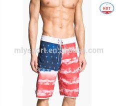 2d2cacae3e Private Label Sportswear Manufacturer Custom Design sublimation board shorts  new style boardshorts flag swimwear men beachwear