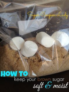 How to Keep Your Brown Sugar Soft and Moist with this simple tip! http://www.supercouponlady.com/2014/01/how-to-keep-your-brown-sugar-soft-and-moist.html/