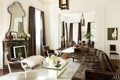 Incredible living room and dining room by designer/architect, Lee Ledbetter!