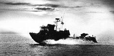 Swift boat on patrol in Panama.