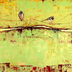 Bird on a Horizon in Green by Janice Sugg: Giclee Print available at www.artfulhome.com