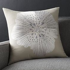 "Crate & Barrel Bloom Frost 20"" Pillow"