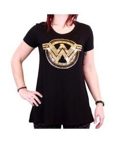 Koszulka damska Batman v. Superman T-Shirt Wonder Woman Logo