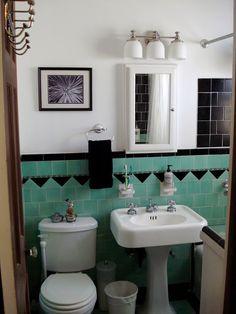 Time Tunnel Girl: Decoração Vintage: Banheiro
