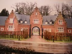 Huis doorn Entrance Gate.  Huis Doorn (Doorn Manor) is a small manor house that lies outside Doorn, a small town near Utrecht, the Netherlands. The house was purchased in 1919 by Wilhelm II, the last German Emperor, as his residence-in-exile (1920-1941) after World War I. Wilhelm died at Huis Doorn, June 4, 1941. He is buried in a small mausoleum in the gardens, awaiting his return to Germany upon the restoration of the Prussian monarchy, according to the terms of his will.
