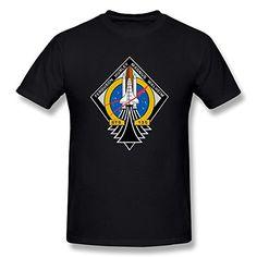 Jahei Custom NASA Short Sleeve T-Shirt For Man Black XX-Large
