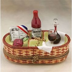 Limoges Wine Wicker Basket Box The Cottage Shop