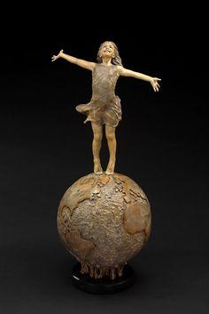Sculpture by Angela Mia De La Vega ...front view...