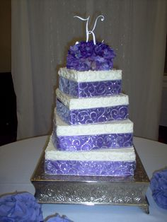 Sparkling purple ribbon