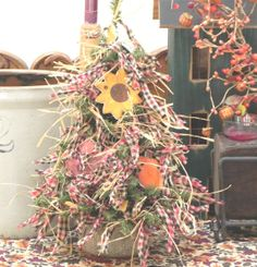 Decorate for Fall! Autumn Colors Fall Tree with Salt Dough by cookiedoughcreations, $28.95