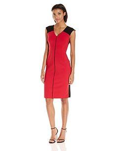 Ellen Tracy Women's Fitted Sheath Dress