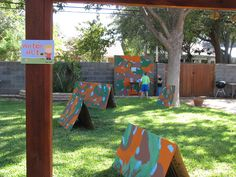 Nerf Gun Birthday Party Favors | Station Signs and Forts