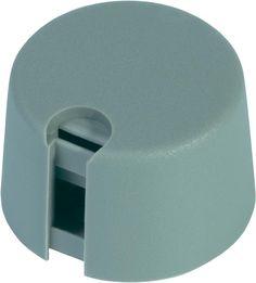 OKW Rundknopf Ø 13,5 mm Grau Achs-Durchmesser 6 mm Zeiger Schwarz im Conrad Online Shop