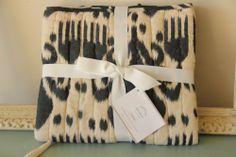 NWT Pottery Barn Retired Standard Quilted Indigo Blue Beige Ikat Pillow Sham $49