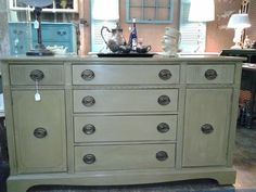Gorgeous server in CeCe Caldwell's Cinco Bayou Moss - at Facebook Page: The Finishing Shop www.thefinishingshop.net