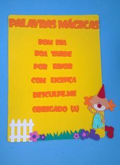 painel de palavras mágicas ou palavras encantadas www.petilola.com.br