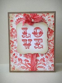 Just sharing another card that I made using Tiffany Doodles' Love Letters digital stamp set. Valentines Day Cards Handmade, Handmade Cards, Love Logo, Red And White, White Style, Paper Crafts, Diy Crafts, Wedding Anniversary Cards, Love Cards