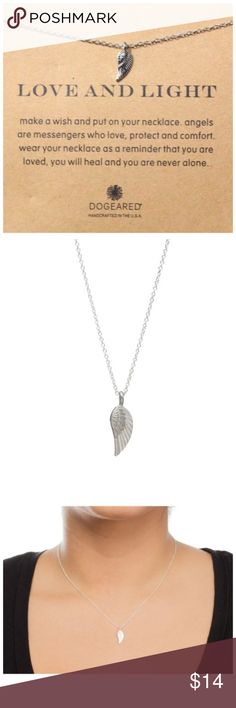 "DF10 Silver Dipped Angel Wing Card Necklace ‼️ PRICE FIRM UNLESS BUNDLED WITH OTHER ITEMS FROM MY CLOSET ‼️    Angel Wine Necklace  Retail $24  FANTASTIC GIFT!! Beautiful & dainty. This is sure to dress up even the most basic outfit! Necklace is approximately 18.5"". Pendant is approximately 1/2"". Please check my closet for thousands more items including designer clothing, scarves and much more. Jewelry Necklaces"