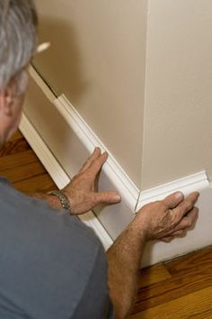 Baseboard styles modern with base molding ideas. Baseboard is the trim that goes along the wall bottom beside the flooring. Different baseboard styles. Baseboard Styles, Baseboard Molding, Floor Molding, Base Moulding, Moldings And Trim, Baseboards, Molding Ideas, Peachtree City, Home Projects