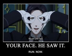 funny black butler pictures   he seen you!