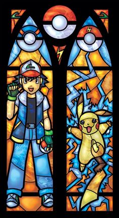Twin Lancet Set Ash Katchum and Pikachu by 0ShardsofColor0