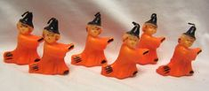 Halloween Witch Candles New Old Stock Set of 6 Unused Vintage Halloween Decorations, Halloween Candles, Halloween Season, Witch, Seasons, Christmas Ornaments, Holiday Decor, Xmas Ornaments, Christmas Jewelry